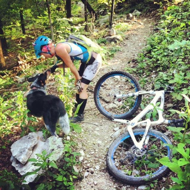 Mountain Biking with My Dog