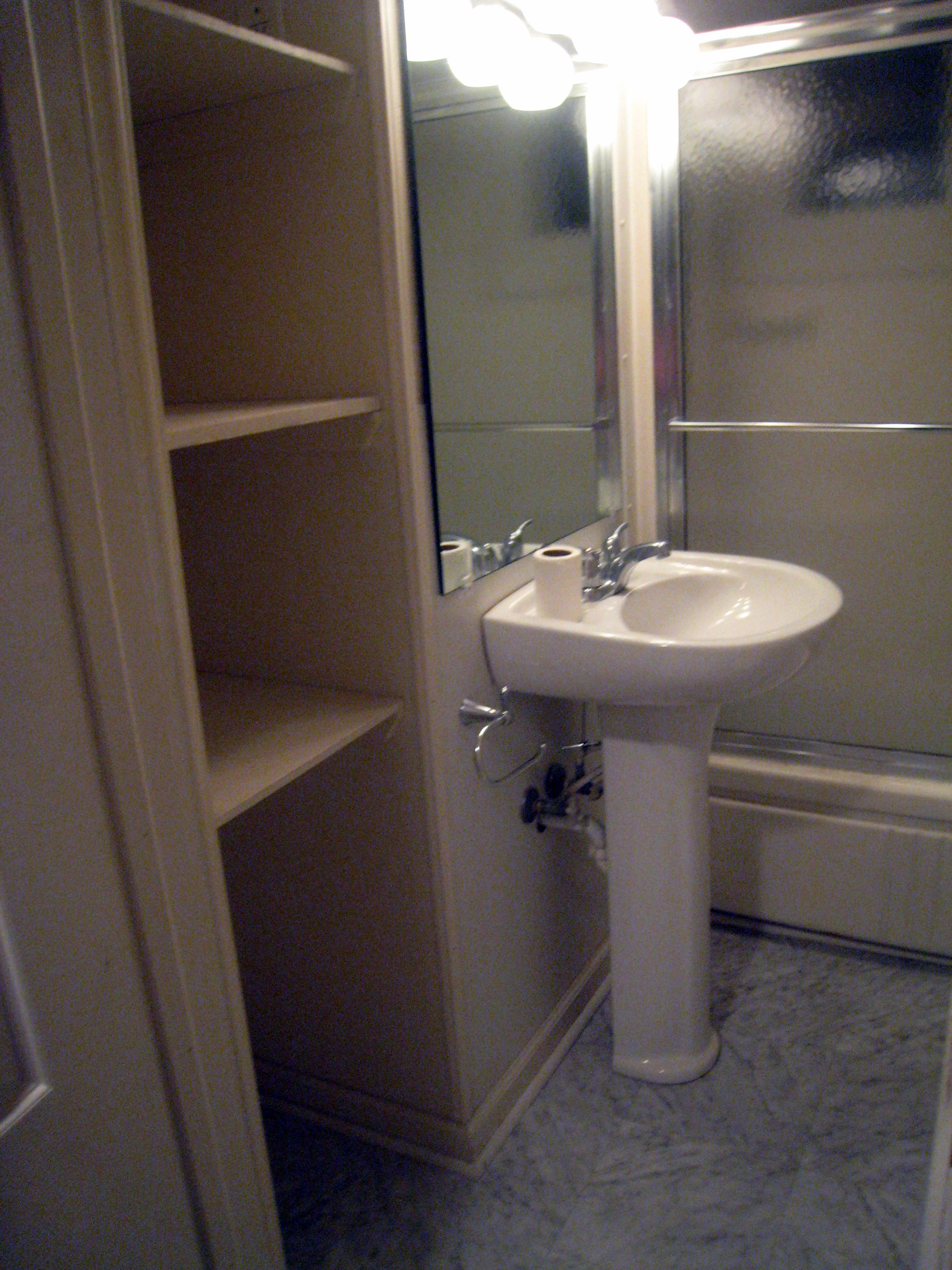 Affordable rental house bathroom update from attic to for Inexpensive bathroom updates